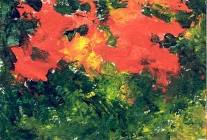 Abstract Paintings from Color Explorations of Artistic Journal of K. Joann Russell